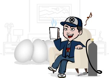 卵が孵化して<br>幼虫になるまで2ヶ月放置